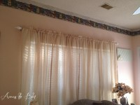 DIY Curtain Rods for Large Windows | Across the Blvd