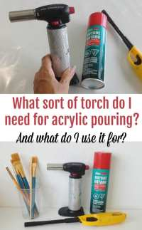 How to Use a Butane Torch for Acrylic Pouring