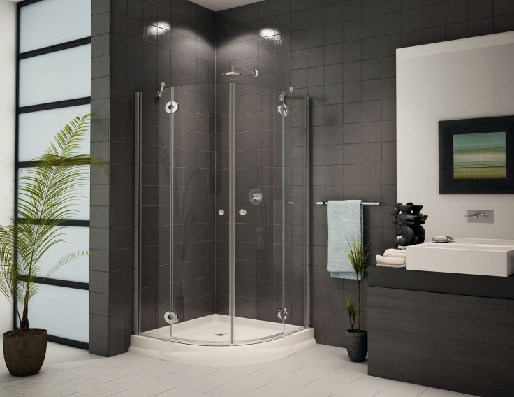 Acrylic Shower Wall Panels The Anzzi Kiki Shower Column Features Hard Edged 90 Degree