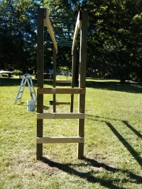 How To Build Monkey Bars: My $100 Backyard Design -Action ...