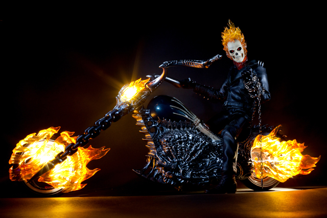 3d Fire Name Wallpaper Hot Toys Ghost Rider Action Figure Photography Smokes Afc