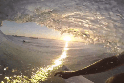 CJ Hobgood's Sunset Barrel at Cloudbreak