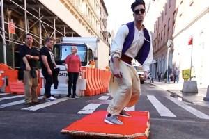 Awesome Aladdin Magic Carpet Prank Takes On NYC
