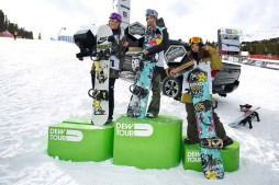 Anna Gasser Takes First Dew Tour Cup Victory in Women's Snowboard Slopestyle