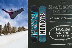 The Blackboard Experiment: Snowboard Review with Sage Kotsenburg – 2017 Salomon Huck Knife