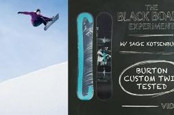 The Blackboard Experiment: Snowboard Review with Sage Kotsenburg – 2017 Burton Custom Twin