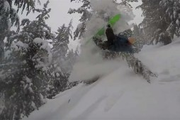 Watch Snowboarder Mag's Pat Bridges Ride Mammoth Mountain