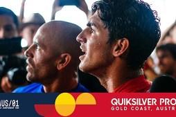 Kelly Slater & Gabriel Medina's Epic Exchange – Quiksilver Pro Gold Coast 2017 Quarterfinals, Heat 4