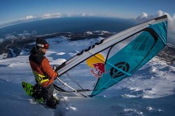 Windsurfing Down a Snowy Mountain w/ Levi Siver | Stream Mountain