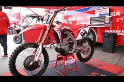 This is Ken Roczen's Honda HRC CRF450R race bike