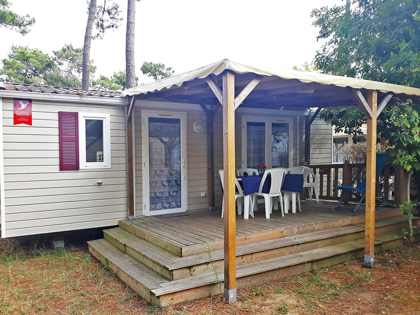 Terrasse Mobil Home Occasion House Rental Camping La Tremblade Charente Maritime