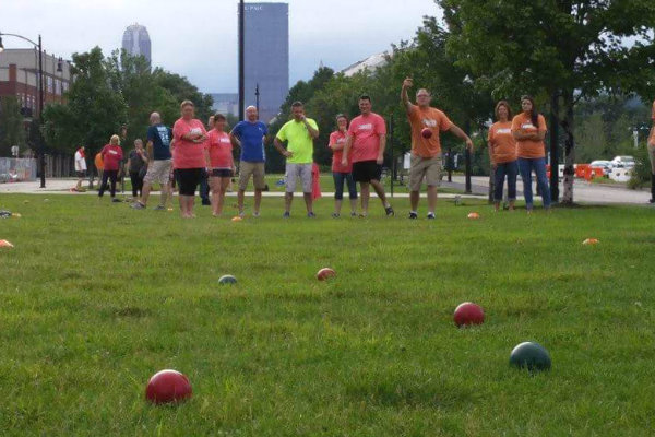 people play a game of bocce through through major league bocce pittsburgh