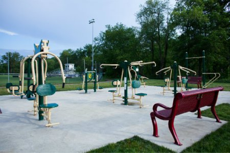 graham park in cranberry township has outdoor fitness equipment