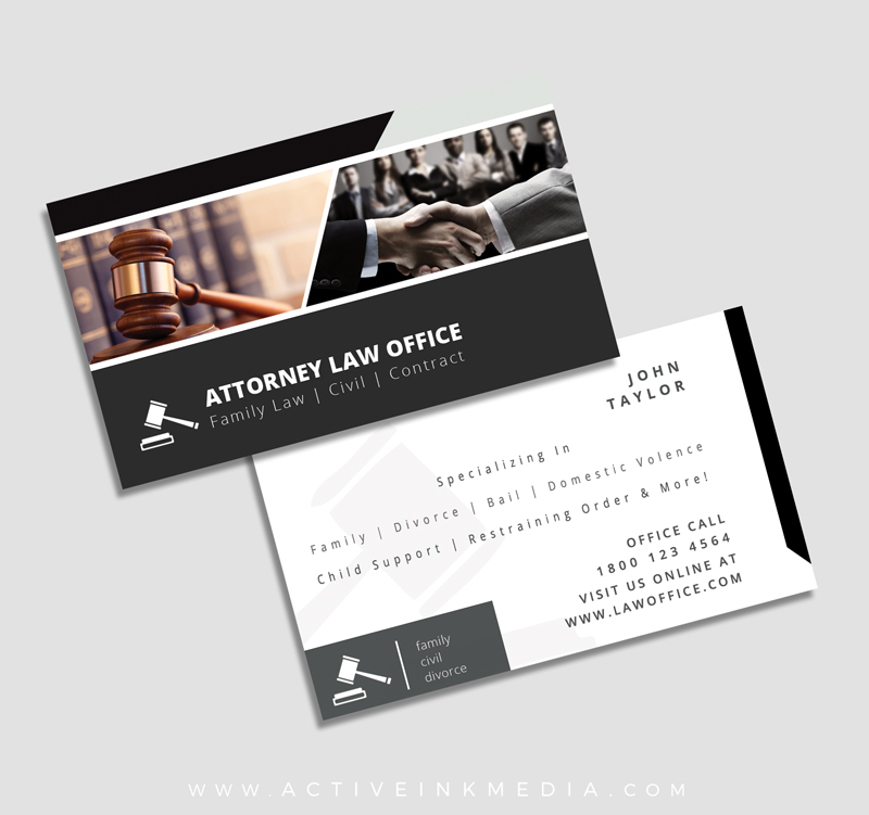 FREE Legal Attorney Business Card Design Template Active Ink Media