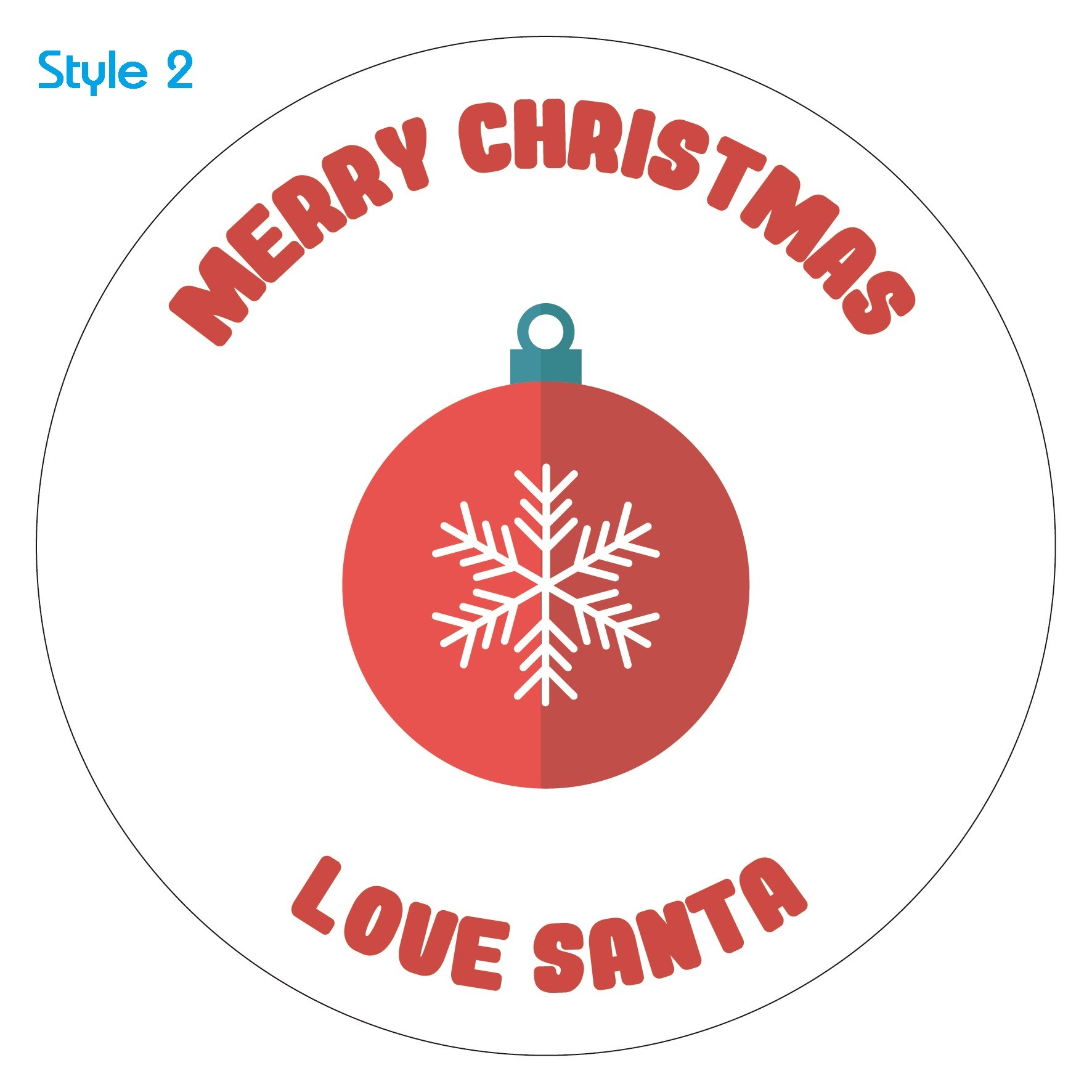 Personalised Sticker Personalised Custom Baubles Christmas Sticker Label Merry Christmas Santa