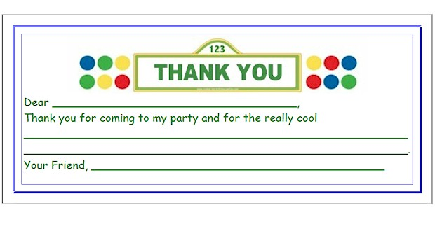 Kids Thank You Cards - Free Printable Cards for Kids - free thank you notes templates
