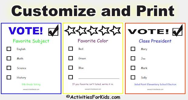 printable ballot template