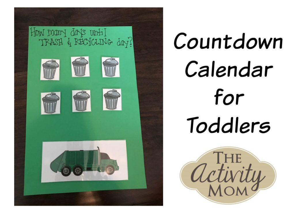 The Activity Mom - Countdown Calendar for Toddlers - The Activity Mom