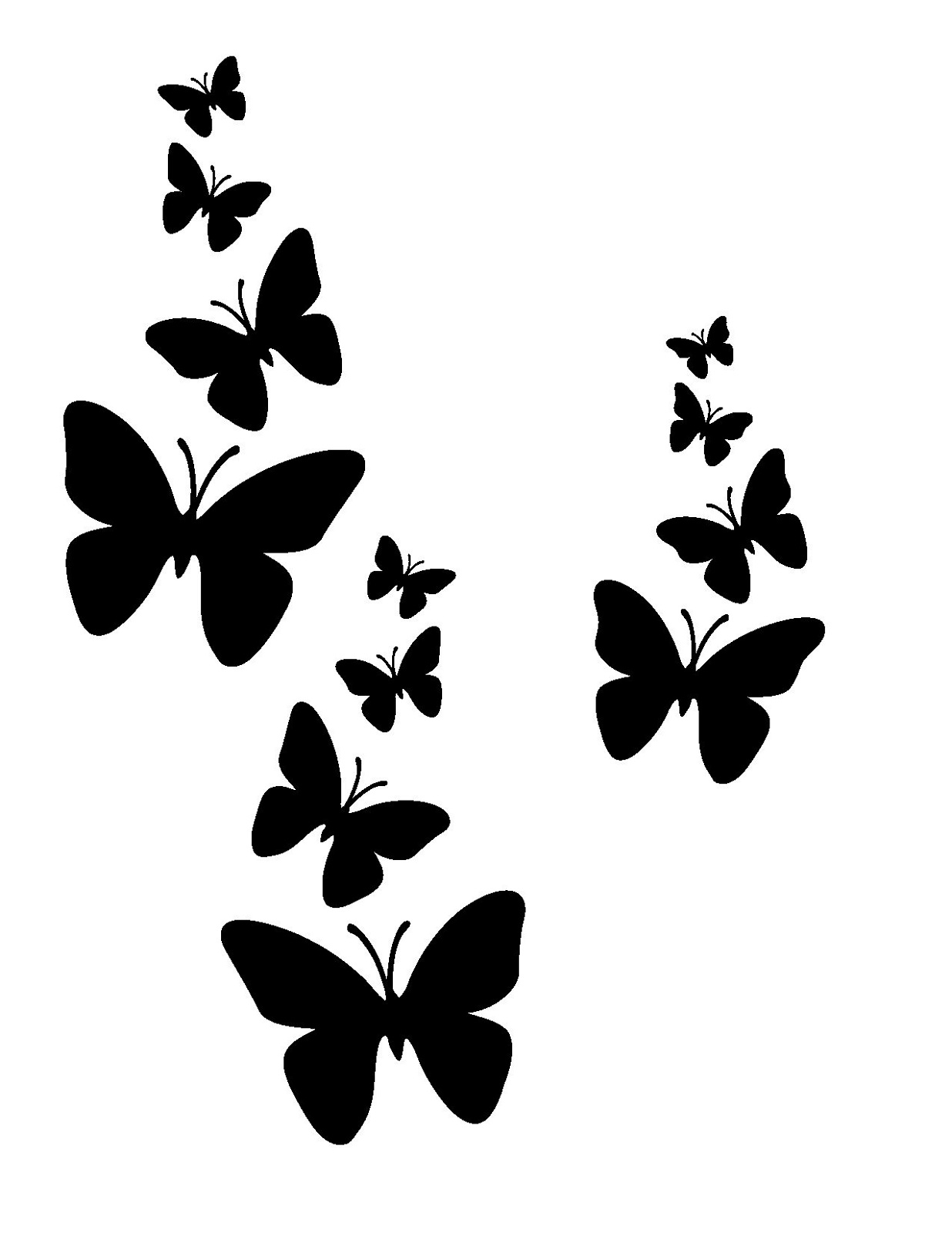 Butterfly Wall Stencils Painting Printable Stencils With Simple Design Activity Shelter