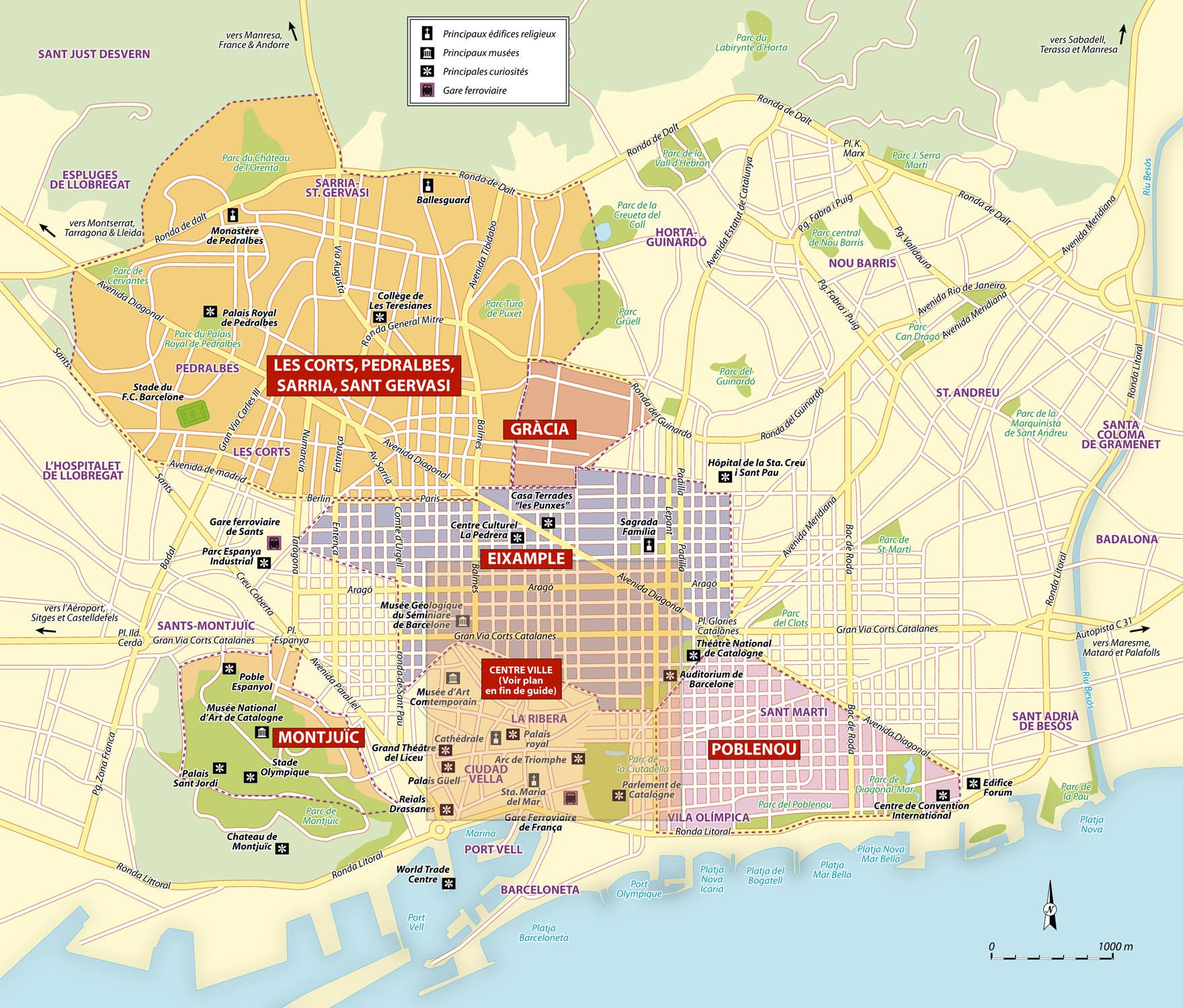 Bus Bordeaux Barcelone Carte De Barcelone Cartes And Plans De Barcelone Sites
