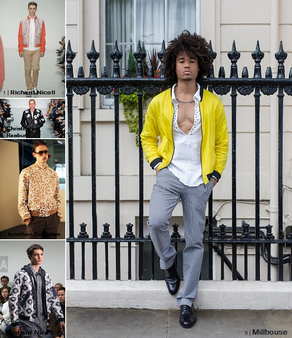 Millhouse BOMBER JACKET LCM2014 SS15 Collage