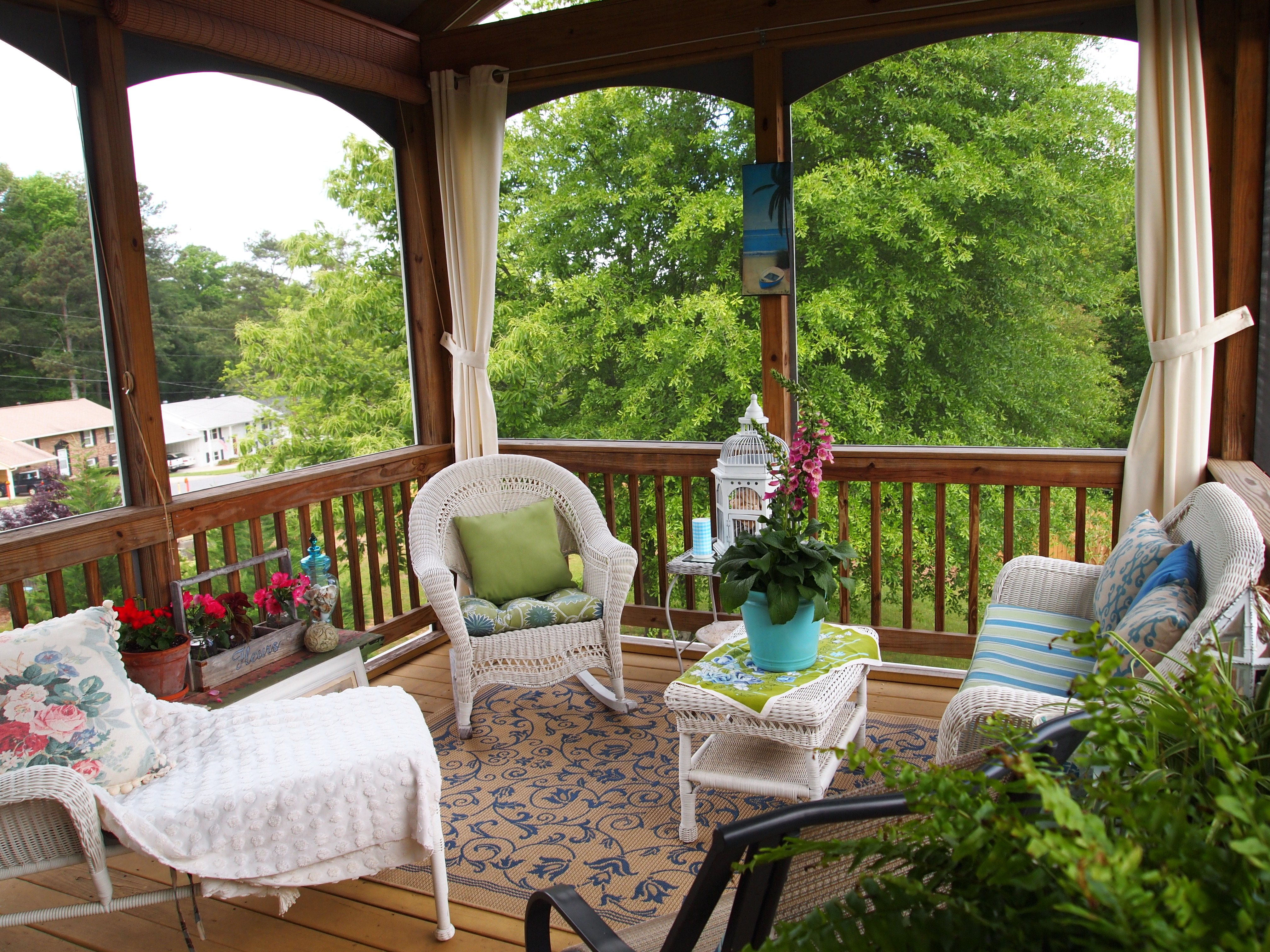 Patio Furnishing Ideas Screened Porch Decorating A Cultivated Nest