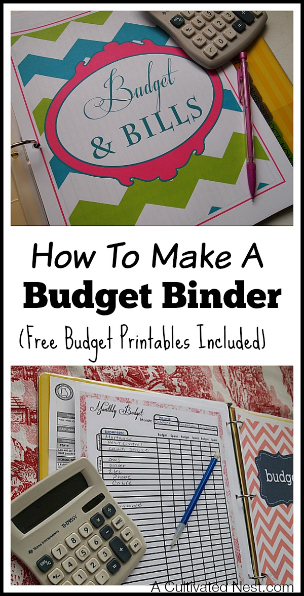 How to Make A Budget Binder - free household budgets