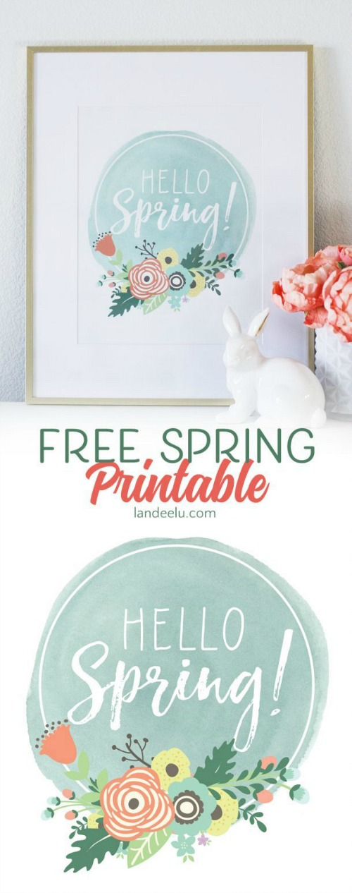 Free Spring Printables- Wall Art + Easter Treat Topper- A Cultivated