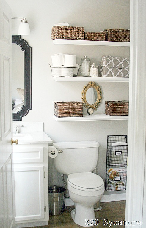 11 Fantastic Small Bathroom Organizing Ideas - small bathroom cabinet ideas
