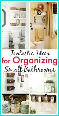 11 Fantastic Small Bathroom Organizing Ideas- A Cultivated ...