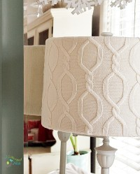 DIY Sweater Covered Lampshade