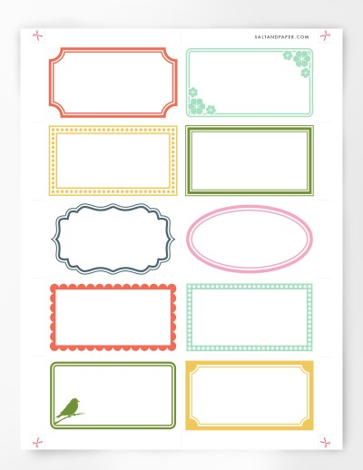 Free Printable Labels For Organizing - blank label template