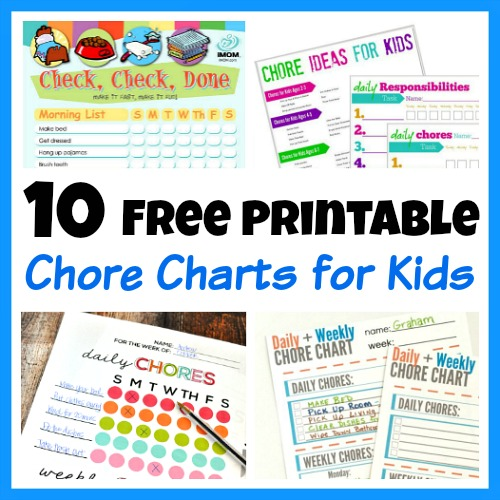 10 Free Printable Chore Charts for Kids - sample chore chart