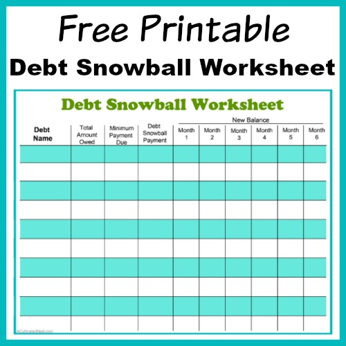 Free Printable Debt Snowball Worksheet- Pay Down Your Debt! - online free budget tracker