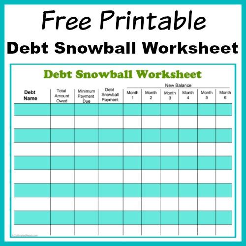 paying down debt worksheet