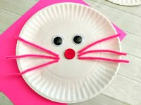 Cute Bunny Paper Plate Craft for Kids- Fun Easter Kids Craft!