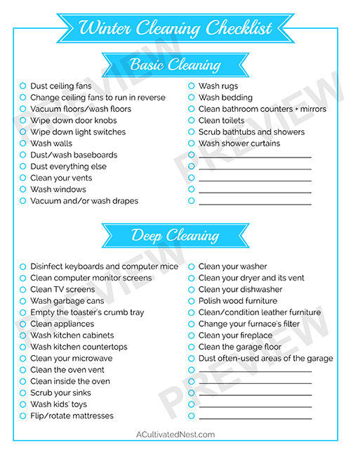 11 Cleaning Schedules to Get Your House Clean- A Cultivated Nest