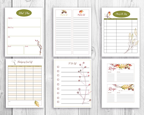 Free Printable Thanksgiving Meal Planner + Wall Art- A Cultivated Nest