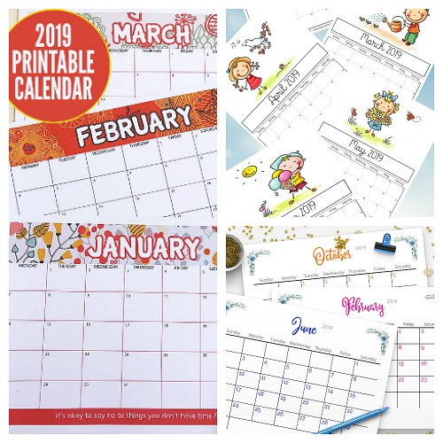 12 Free Printable 2019 Calendars- A Cultivated Nest