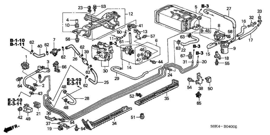 2007 ford taurus fuel system diagram