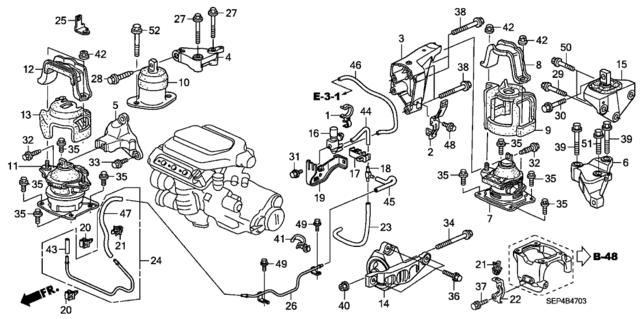 2004 acura tl engine mount diagram