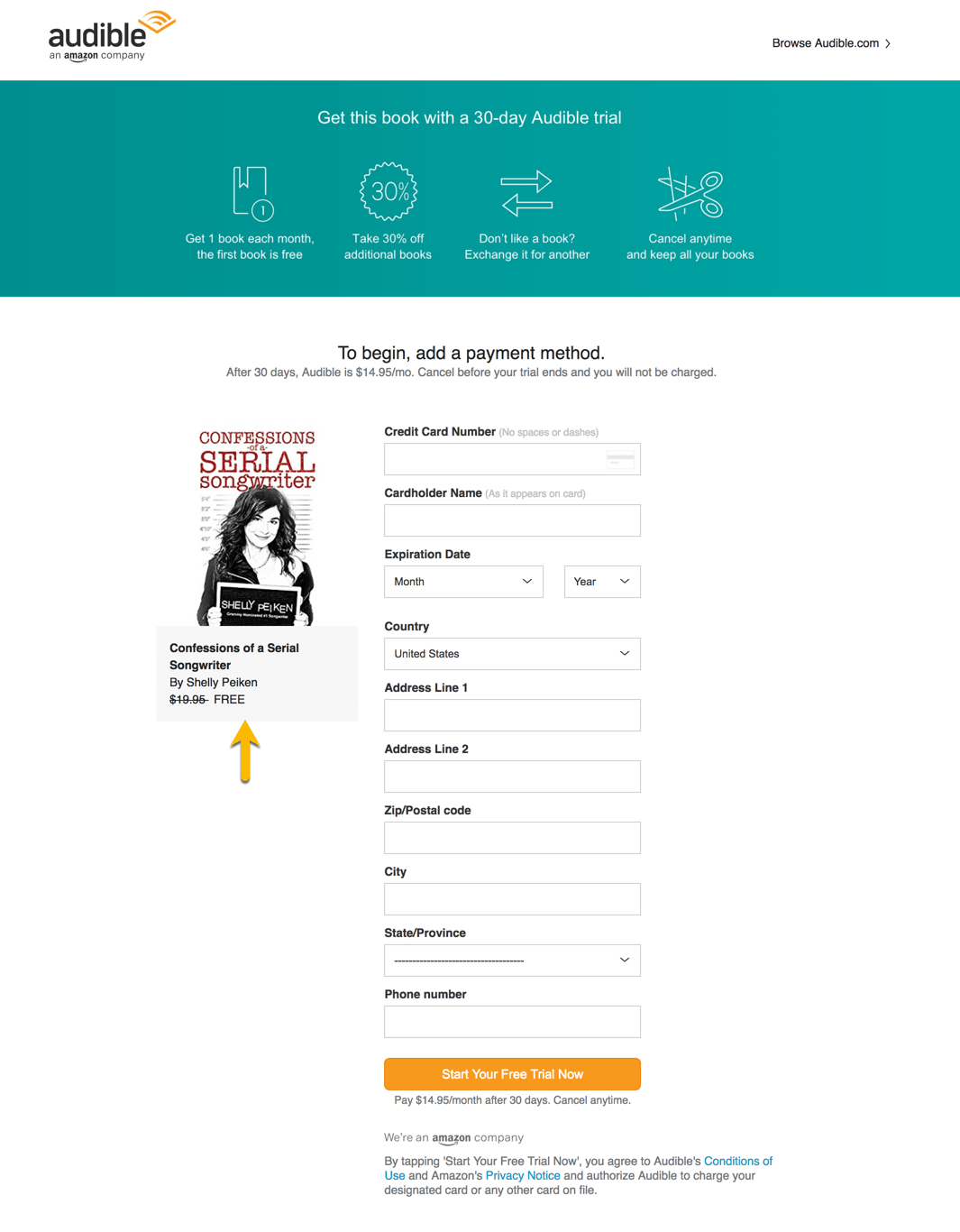 Amazon Audible Login Creating Your Custom Audible 30 Day Free Trial Link