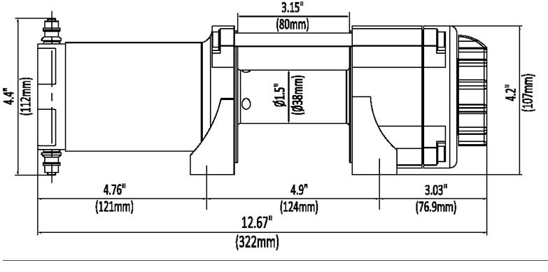 KFI 3000 LB atv Winch W/ 10-0102 - M/ A3000 - $22398  A and D
