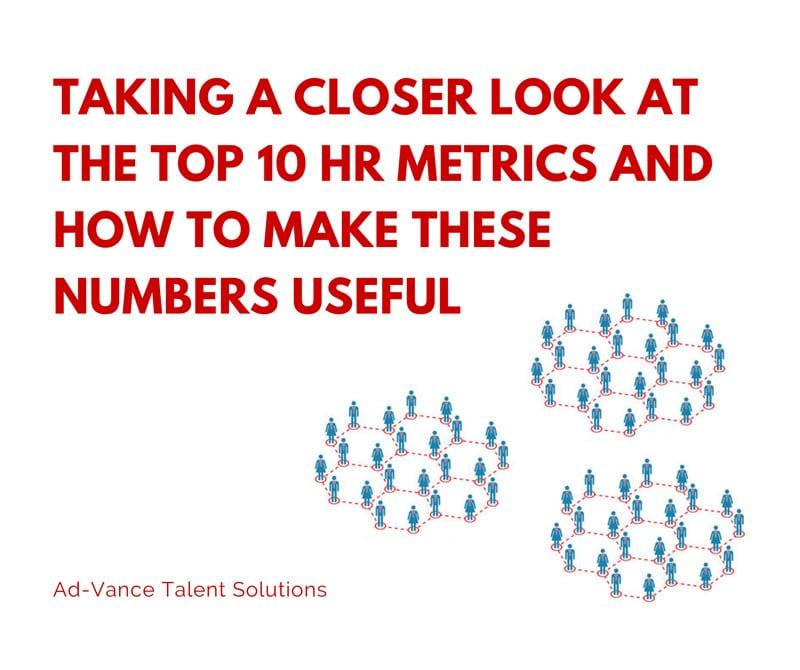 Taking a Closer Look at the Top 10 HR Metrics Ad-Vance Talent - hr metrics