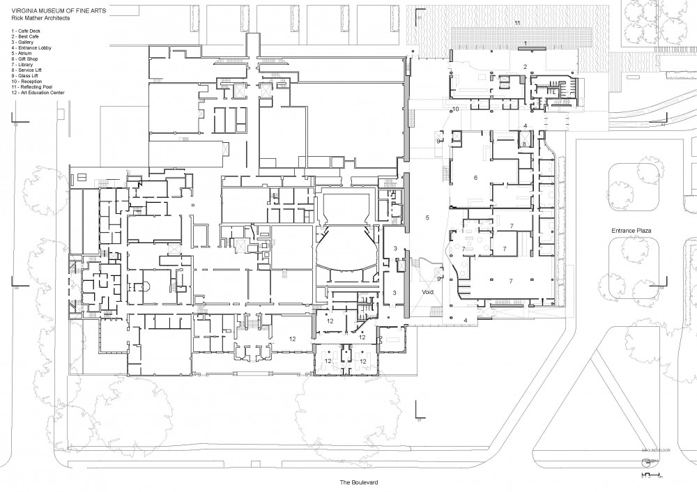 Ground Floor Plan of VMFA Cool Museums Pinterest Ground floor - office seating plan template
