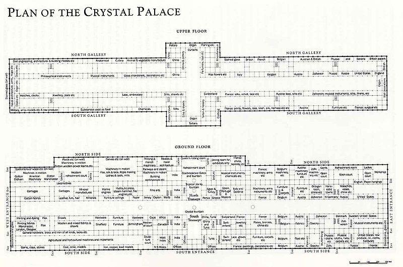 Plan of the Crystal Palace, London (1851) - Joseph Paxton TSA - plan 3 k che