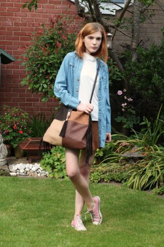 new look fringed bag casual