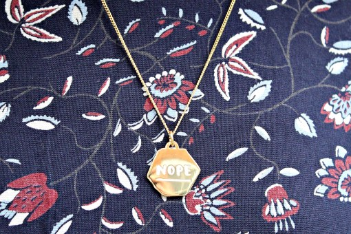 nope necklace from hello harriet