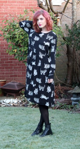 zara cat print dress