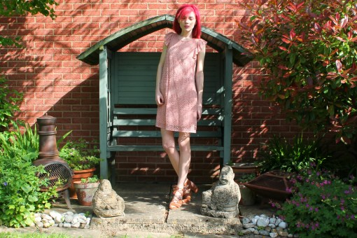 crochet pink dress from primark